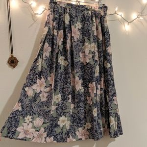 Vintage Pendleton floral rayon skirt